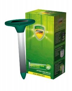 Repells snakes w/ ultrasonic and electronic vibrations, is said to keep snakes away from chickens. *Pestrol Snake Away