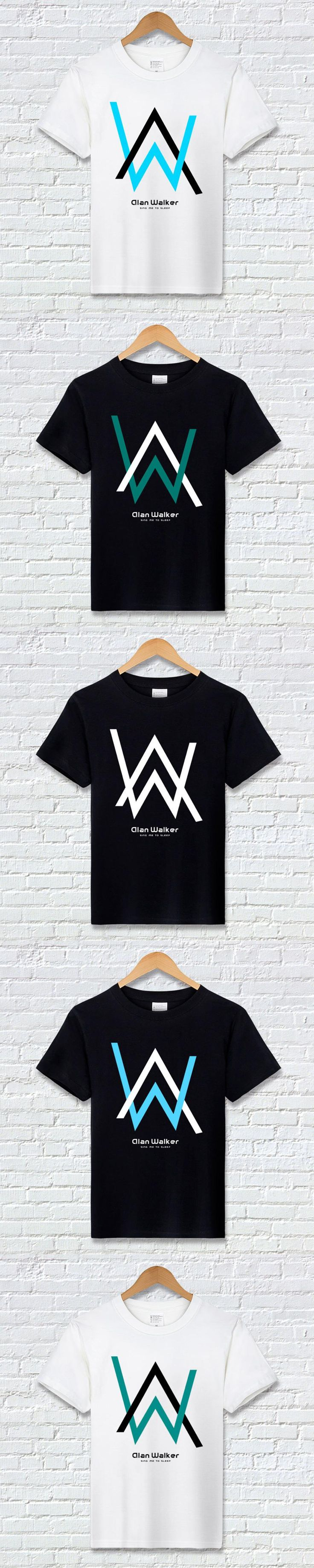 Alan Walker Clothes Faded T Shirt Off White Black Cos Musicians T-Shirt Male Cartoon Tshirt for Men Clothes 2017