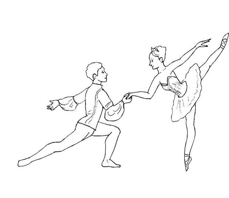 рисунок танцора в движении черта