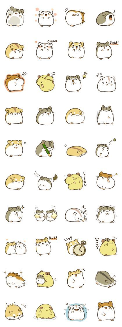 It is second phase of the hamstamp.The hamster will make your LINE life more pleasant.