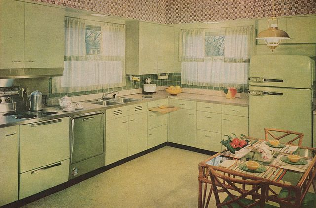 Kitchen and Laundry on Pinterest  Pink kitchens, Vintage kitchen and