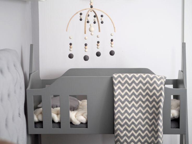 Grey Zaffiro cotton blanket