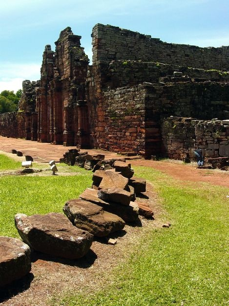 Jesuit Missions of the Guaranis: San Ignacio Mini, Santa Ana, Nuestra Señora de Loreto and Santa Maria Mayor (Argentina), Ruins of Sao Miguel das Missoes (Brazil), State of Rio Grande do Sul, Brazil, Province of Misiones, Argentina. Inscription in 1983. Criteria: (iv)