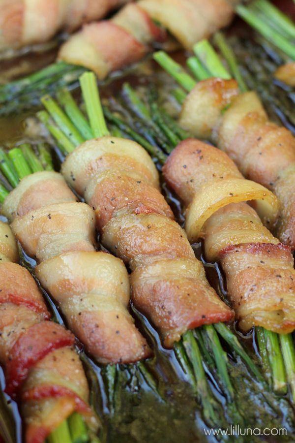 Asparagus Bacon Roll-Ups on { lilluna.com }