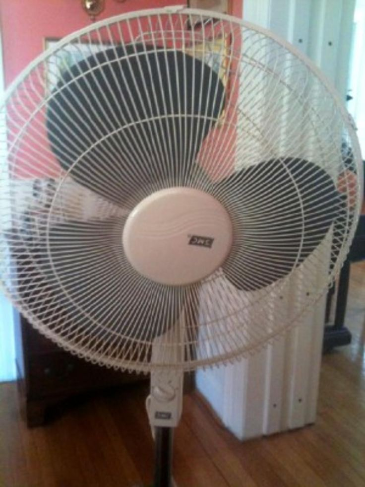 How to clean a portable fan.
