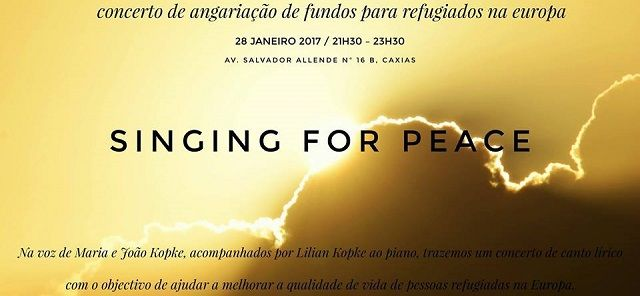 Singing for Peace: João Kopke e a família fazem concerto de solidariedade por refugiados