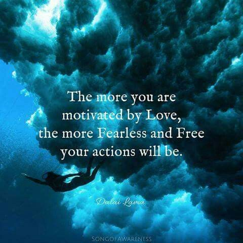 ...motivated by Love....