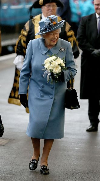 Queen Elizabeth II arrives at Hull Railway Station on November 16, 2017 in Kingston upon Hull, England. Queen Elizabeth II arrives at...
