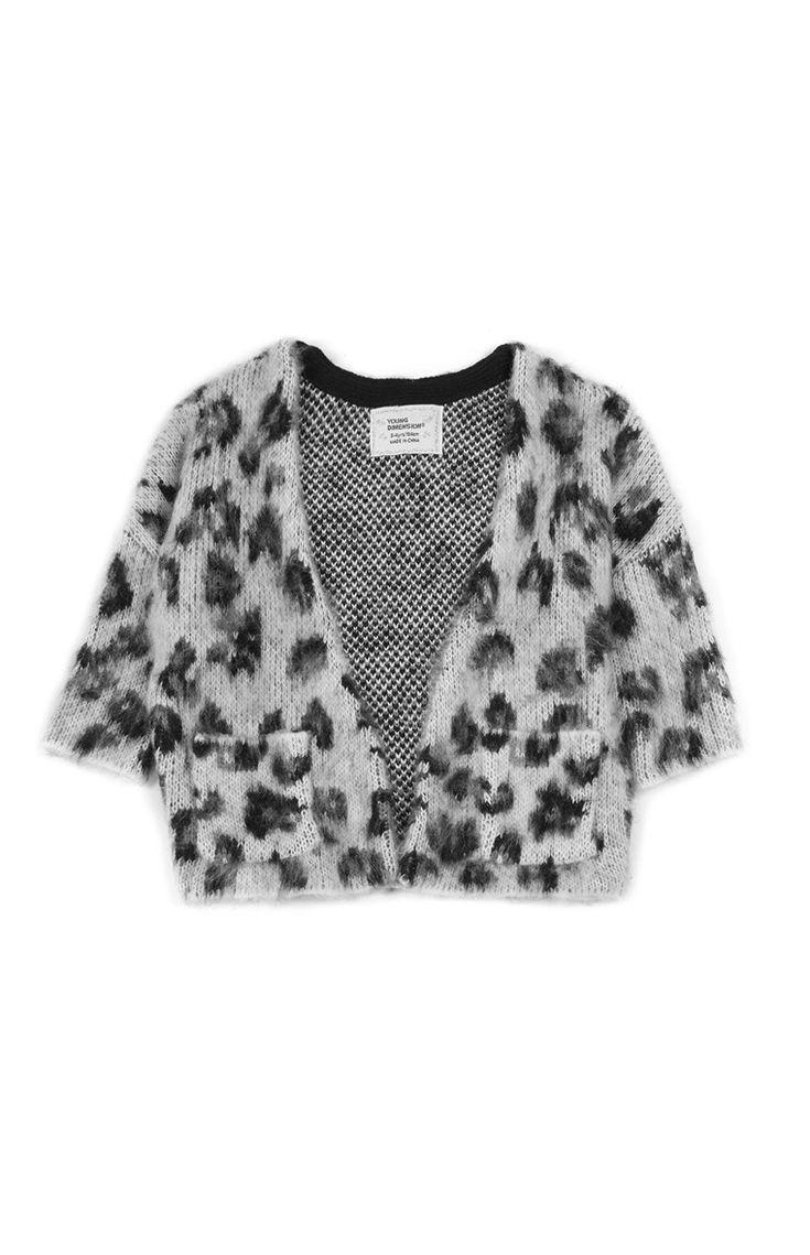 Primark - Brushed Leopard Cardigan Younger Girls
