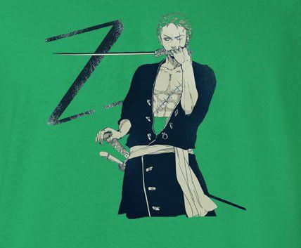 One Piece Z for Zoro Green Hair Green T-Shirt