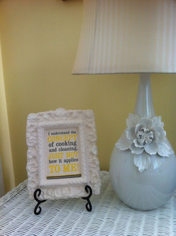 Handmade plaster frame decorations for kitchen by GraceDecorations, $25.00