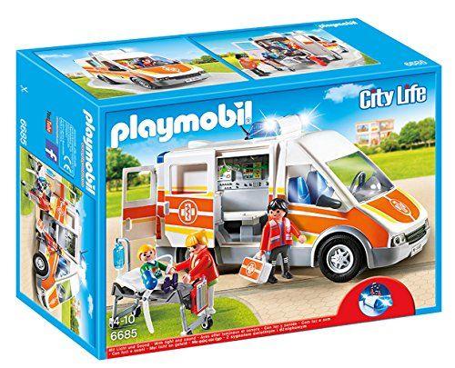 Playmobil - 6685 - Ambulance avec gyrophare et sirne Play…