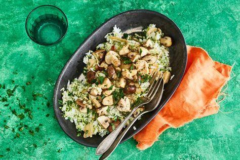 Broccolirijst met kipragout - recept - Allerhande