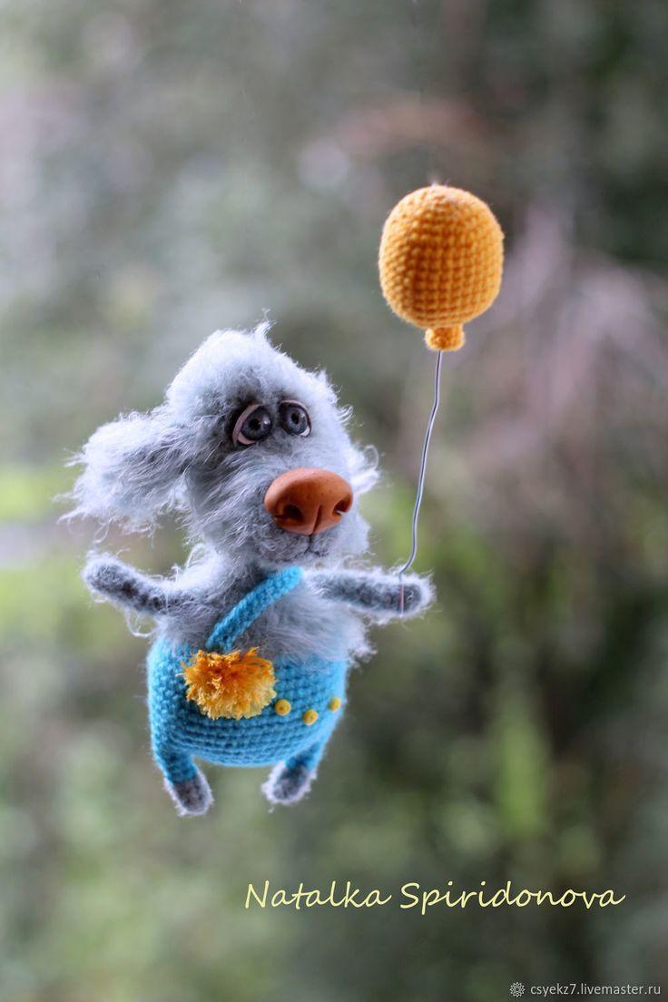 Crochet toy Dog | Купить Песик Фенди - комбинированный, вязаная игрушка, вязаная собака, собака вязаная, символ 2018