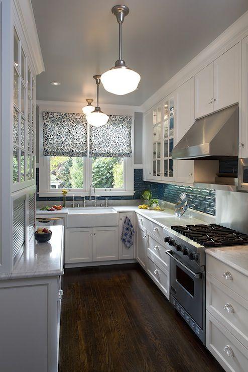 Best Artistic Designs For Living Kitchens Teal Backsplash 400 x 300