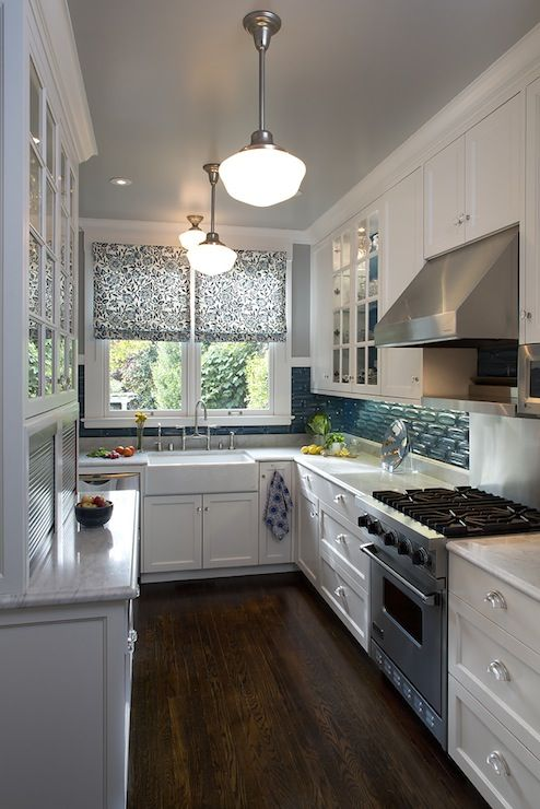 Artistic designs for living kitchens teal backsplash for Teal kitchen ideas
