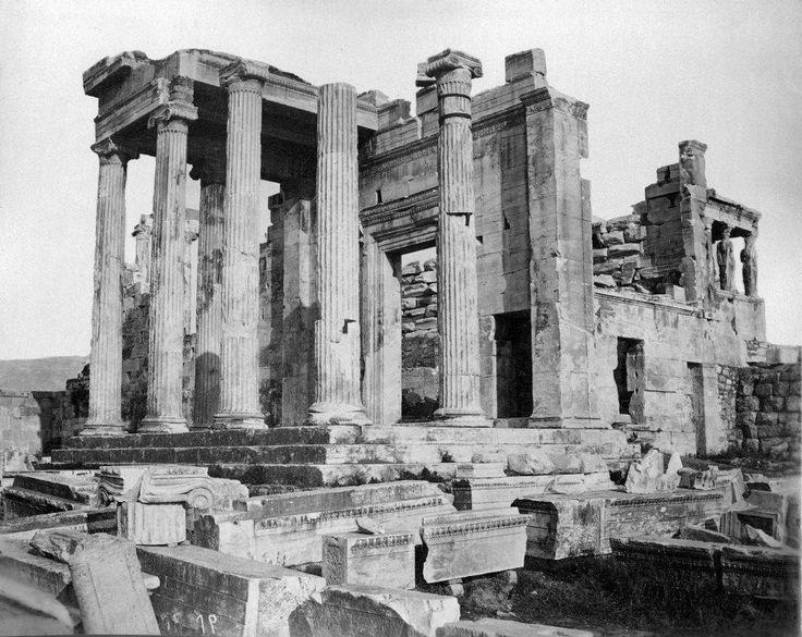 Αθήνα, δεκαετία 1860, Ερέχθειο, άποψη Πανδρόσιου.