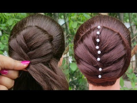Khajuri Style Juda Hairstyle For Gown, Lehnga, Party || Hairstyle For Girls || B…