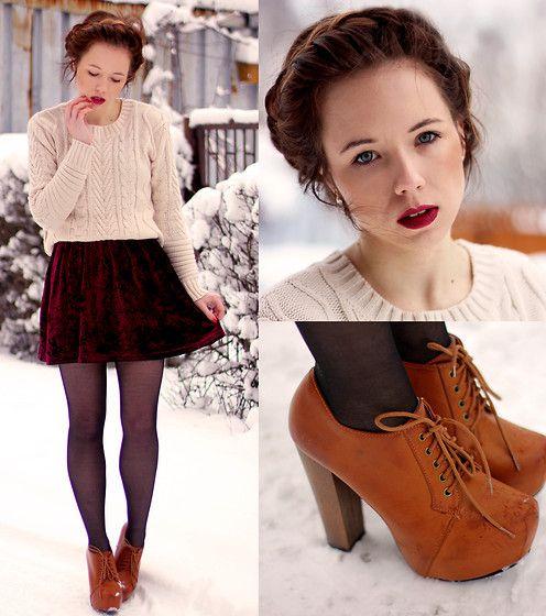Winter Girl (by Wioletta Mary Kate) http://lookbook.nu/look/4749815-Winter-Girl
