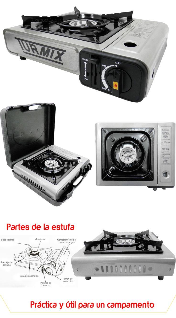 Estufa Portatil Turmix Gas Butano Camping Practico Uso Facil - $ 369.00 en MercadoLibre