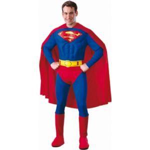 Dit Superman kostuum maakt jou tot een echte superheld voor elk feestje en bestaat uit een pak met cape, laarzen en een riem. Op www.shopwiki.nl #verkleden #thema #carnaval