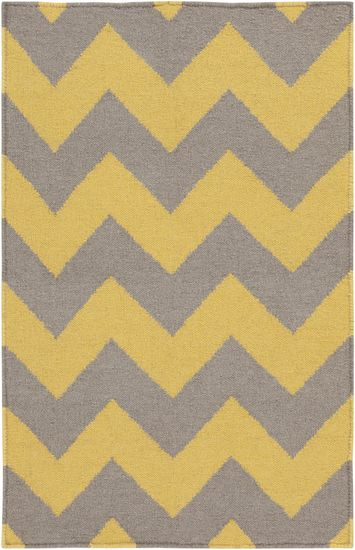 gray and gold chevron flatweave rug | westoncarpet.com