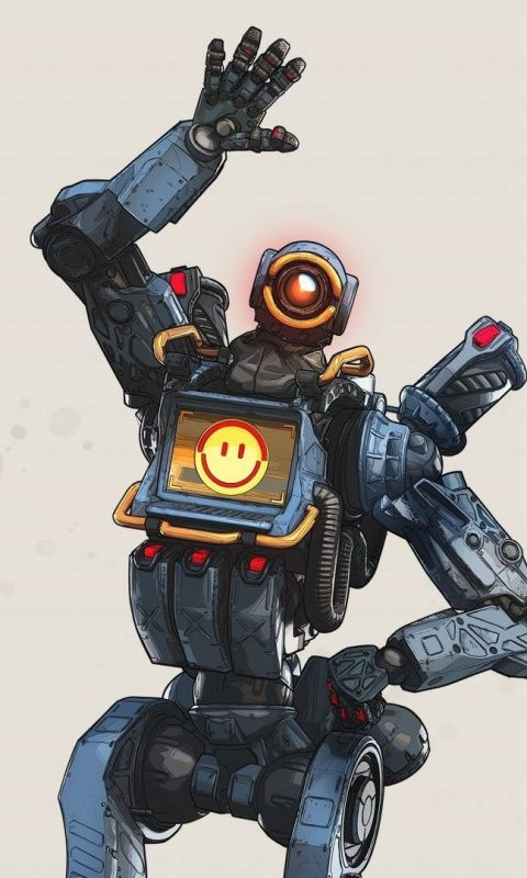 Pathfinder, robot, Apex Legends, Video game, 480x800