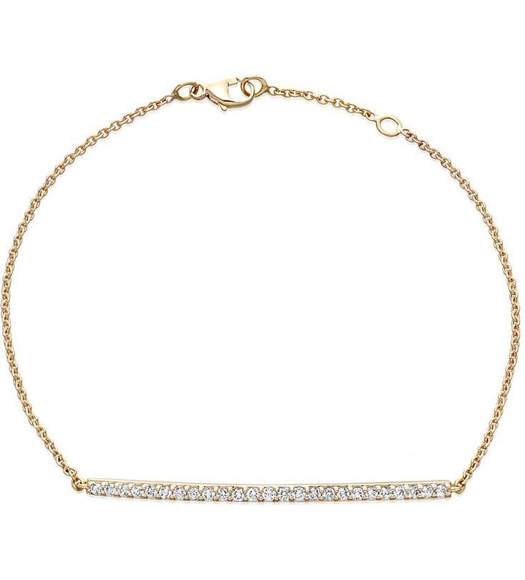 ASTLEY CLARKE - 14ct jaune-or et du diamant bar bracelet   Selfridges.com