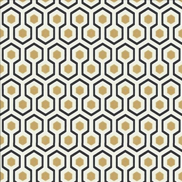 Papier peint géométrique beige HICK'S HEXAGON - Cole and Son - Au fil des Couleurs