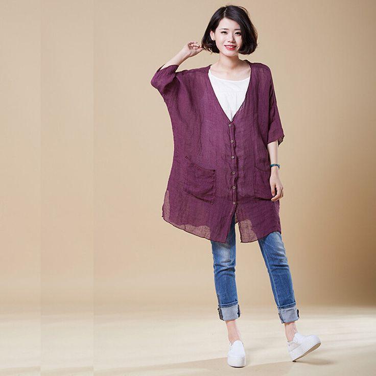 Loose shirt - Buykud summer top