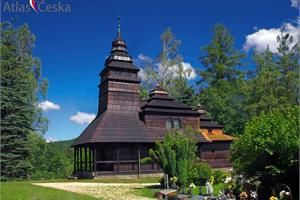Dřevěný kostel sv. Prokopa a Barbory - Kunčice pod Ondřejníkem