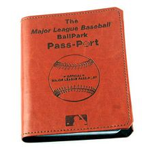Now THIS is a cool idea: MLB Ballpark Pass-Port Book.  A fabulous gift idea!  ...And how many people have this on their Bucket List??