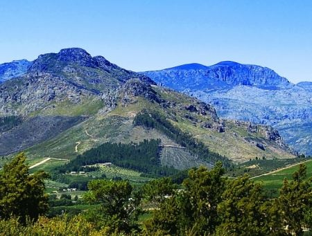 Franschoek, in the Winelands of South Africa