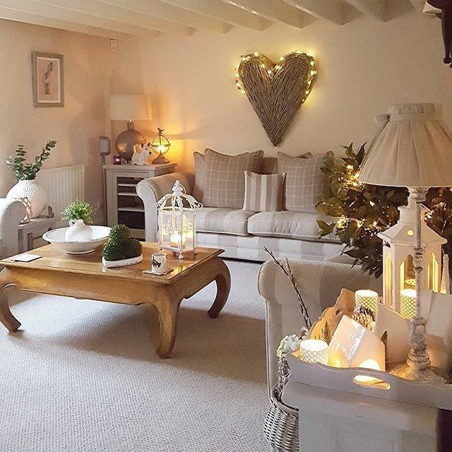 Mix Grey With Warmer Neutrals Create A Relaxing Living Room With A Tightly Controlled Pale Cosy Living Room Farmhouse Style Living Room Chic Living Room Decor