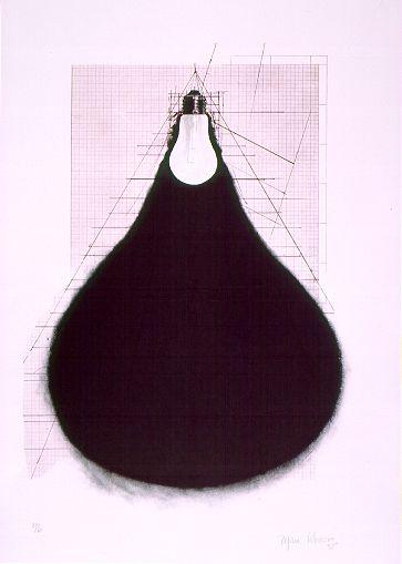 Regina Silveira, Lâmpada,1995. lito-offset, 58,5 x 40,8 cm