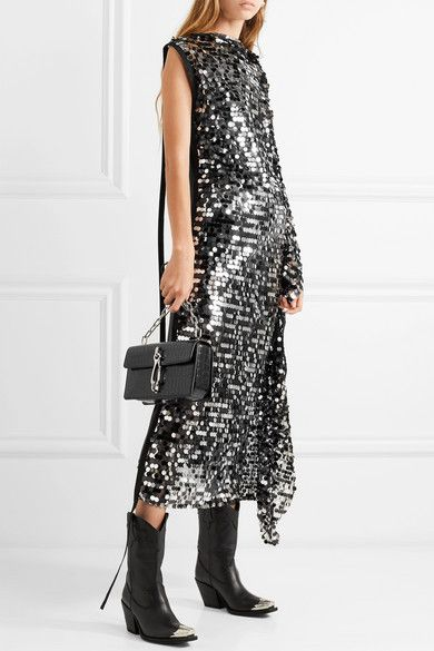13f90315d8d MM6 Maison Margiela - Convertible sequined tulle and stretch-lamé ...