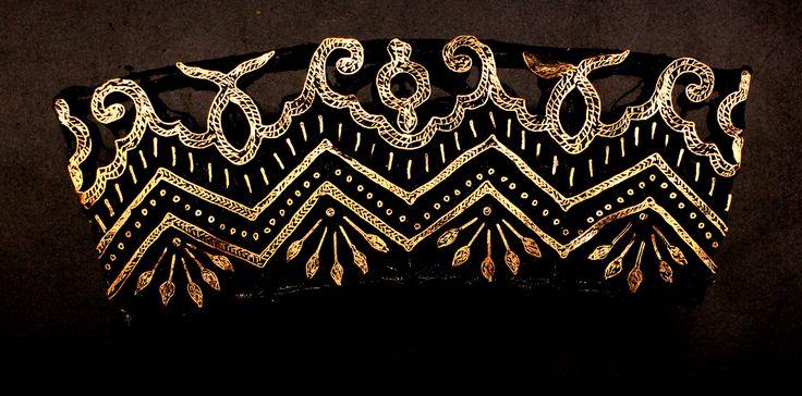Check out the deal on Vintage Handmade Indonesian Copper Batik Stamp/Cap/Tjap- Border at artisticartifacts.com