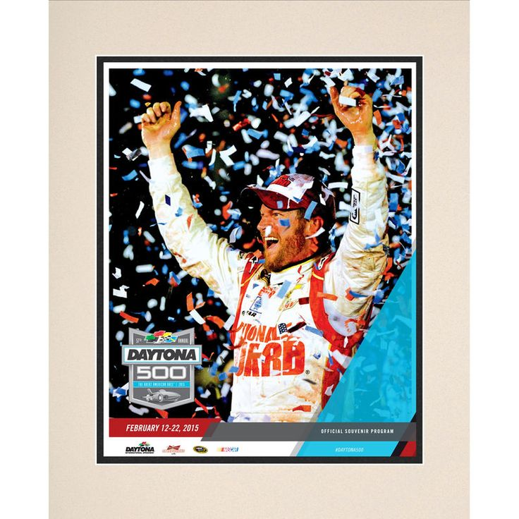 "Fanatics Authentic 57th Annual 2015 DAYTONA 500 Matted 10.5"" x 14"" Program Print"