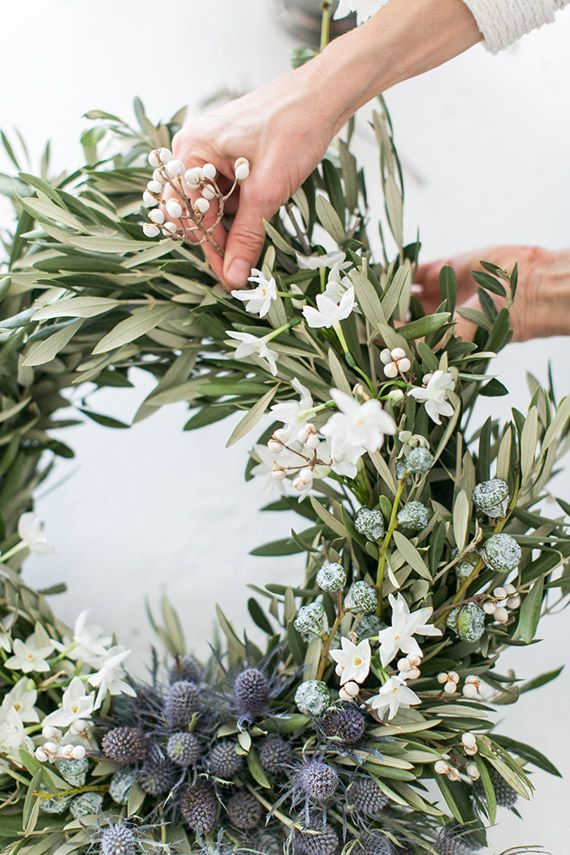 olive leave wreath