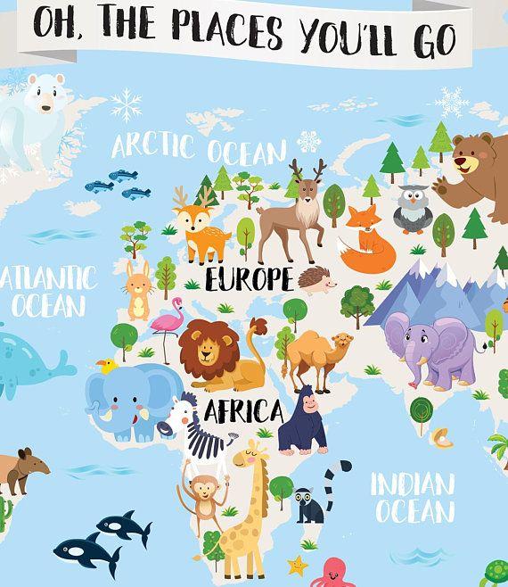Imprimable Enfants Monde Carte Pepiniere Monde Animal Carte Pour