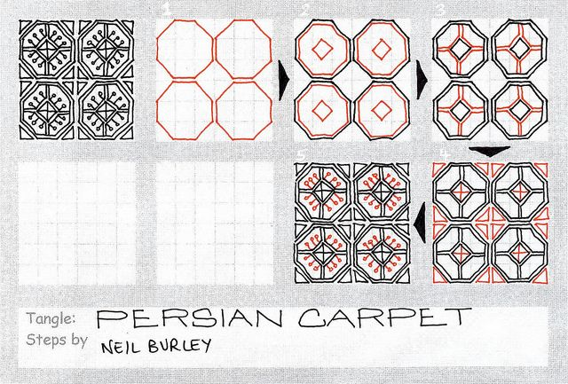 Persian Carpet - tangle pattern by perfectly4med, via Flickr