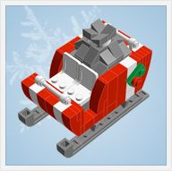 Build your own Christmas ornaments for the lego lover in your house.