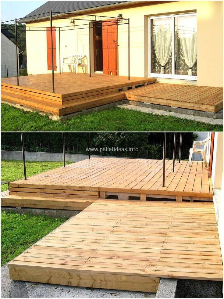 Let' use your leisure time and craft this wonderful, eye-catching wood pallets deck floor for your outdoor, your garden as well as for the decoration of your terrace. This pallet wood deck floor project is much simple and easy to start work on but before crafting this deck floor, try to level the ground surface area. It will definitely give this project a valuable structure.