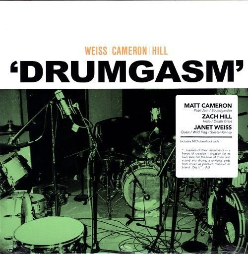 DRUMGASM LP NEW VINYL ZACH HILL WEISS CAMERON PEARL JAM SOUNDGARDEN #AvantgardeFreeJazzFreestyleDrumming
