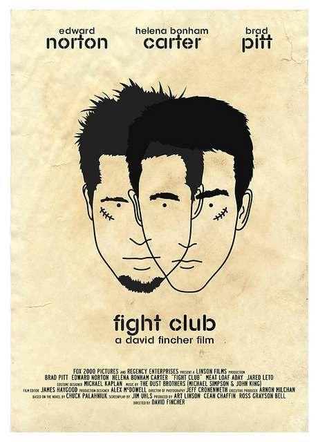 Fight Club (1999) //  David Fincher. poster by Dan Sherratt | more info: reworki…