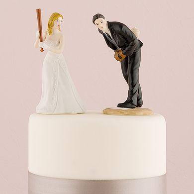Baseball Wedding Cake Topper - Hit a Home Run