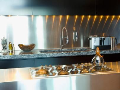Contemporary Stainless Steel Kitchen