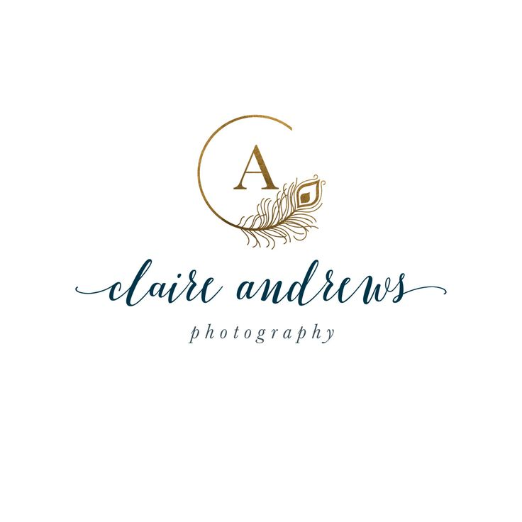 Peacock Feather Logo - Premade Photography Logo and Watermark Design - One of a…