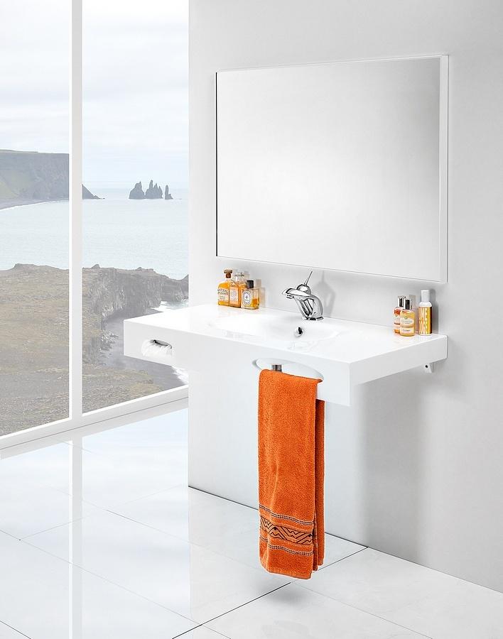 Smart bathroom washbasin / łazienka umywalka #bathroom #washbasin #minimalist #contemporary #white #umywalka