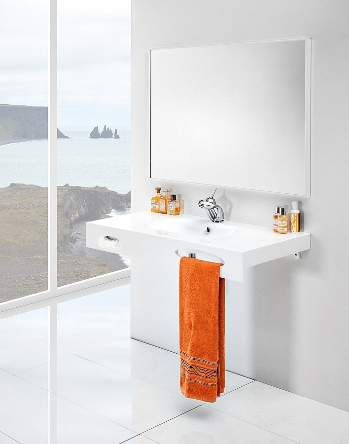 Smart bathroom washbasin / Łazienka - sprytna umywalka Smart #washbasin #bathroom #contemporary #umywalka